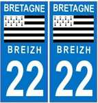 Stickers immatriculation auto 22